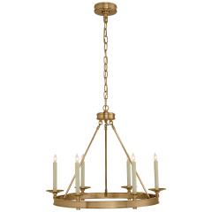 Launceton Small Ring Chandelier in Antique- Burnished Brass