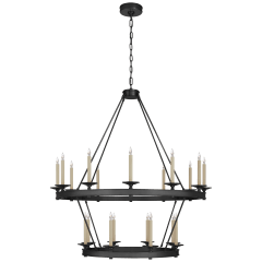 Launceton Large Two Tiered Chandelier in Bronze