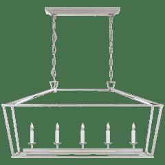 Darlana Medium Linear Lantern in Polished Nickel