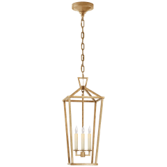 Darlana Large Tall Lantern in Gilded Iron
