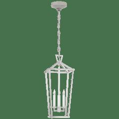 Darlana Large Tall Lantern in Polished Nickel