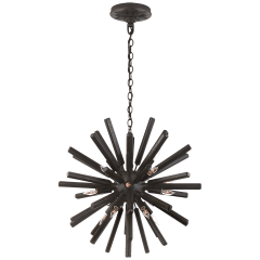 Lawrence Small Sputnik Chandelier in Aged Iron
