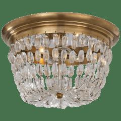 Paris Flea Market Medium Flush Mount in Antique-Burnished Brass with Seeded Glass