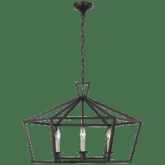 Darlana Wide Hexagonal Lantern in Aged Iron