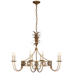 Gramercy Medium Ring Chandelier in Gilded Iron