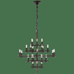 Sonnet Medium Chandelier in Bronze