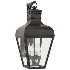 Fremont Small Bracketed Wall Lantern in French Rust with Clear Glass