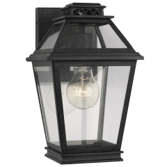 Falmouth Extra Small Outdoor Wall Lantern Dark Weathered Zinc