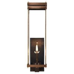 "Austin 30"" Wall Lantern in Antique Copper, Gas"