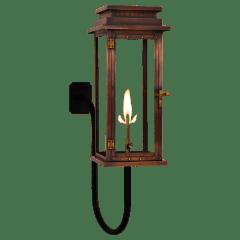 """Contempo 24"""" Gooseneck Wall Lantern in Antique Copper, Gas"""