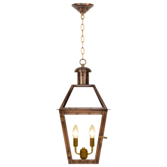 """Georgetown 18"""" Chain Mount Ceiling Lantern in Antique Copper, Electric"""