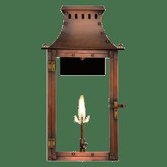 """Market Street 16"""" Wall Lantern in Antique Copper, Gas"""