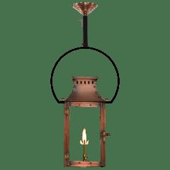 """Market Street 21"""" Yoke Ceiling Lantern in Antique Copper, Gas"""