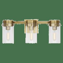 Garrett 3 - Light Vanity Burnished Brass