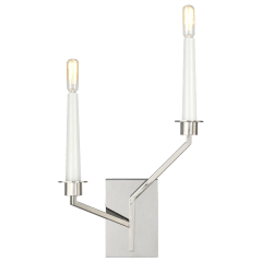 Hopton Right Double Sconce Polished Nickel