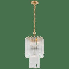 Lorelei Petite Waterfall Chandelier in Gild with Clear Glass