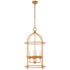 Illana Medium Lantern in Antique Gold Leaf