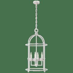 Illana Medium Lantern in Plaster White