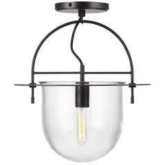 Nuance Medium Semi-Flush Mount Aged Iron