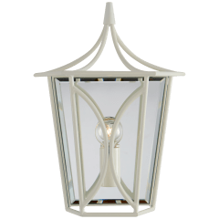 Cavanagh Mini Lantern Sconce in Light Cream