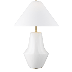 Contour Short Table Lamp Arctic White Bulbs Inc