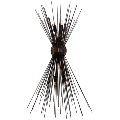 Strada Large Sconce in Aged Iron