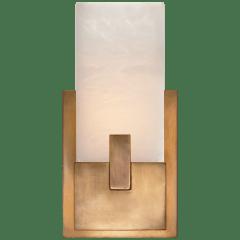 Covet Short Clip Bath Sconce in Antique-Burnished Brass