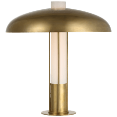 Troye Medium Table Lamp in Antique-Burnished Brass with Antique-Burnished Brass Shade