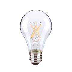 5W A19 Clear LED Dimmable E26 Medium Base 450lm 2700K 120V