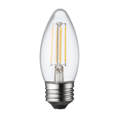 3.3W B11 Clear LED Dimmable E26 Medium Base 300lm  2700K 120V