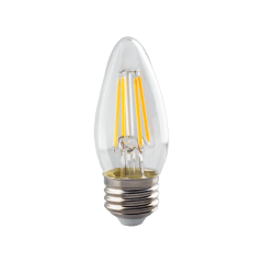 4W B11 Clear LED Dimmable E26 Medium Base 350lm 2700K 120V T20