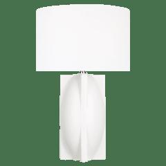 William Narrow Table Lamp Matte Ivory Bulbs Inc