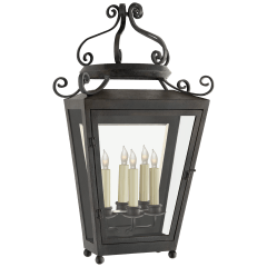 Lafayette Large 1/2 Sconce in French Rust with Clear Glass