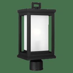 Roscoe Post Lantern Textured Black