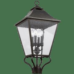 Galena Large Post Lantern Sable