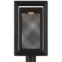 Milton LED Post Lantern Antique Bronze Bulbs Inc