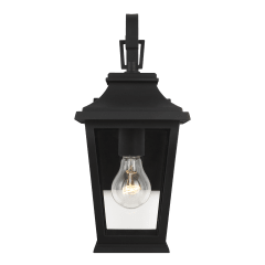 Warren Mini Lantern Textured Black