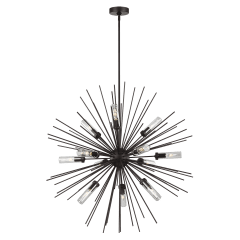Hilo Large Outdoor Chandelier Oil Rubbed Bronze