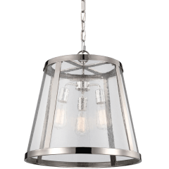 Harrow Large Pendant Polished Nickel