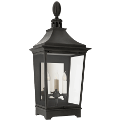 Rosedale Classic Medium 3/4 Wall Lantern in French Rust with Clear Glass