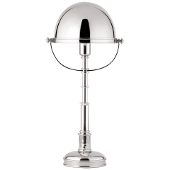 Carthage Table Lamp in Polished Nickel