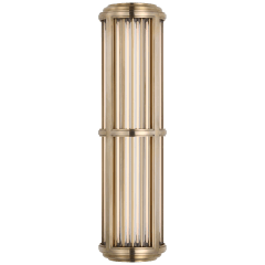 Perren Medium Wall Sconce in Natural Brass and Glass Rods