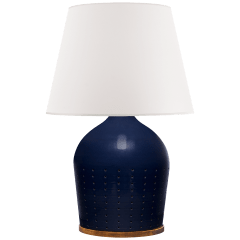 Halifax Large Table Lamp in Blue Ceramic with White Paper Shade