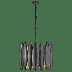 Hatton Large Chandelier in Aged Iron