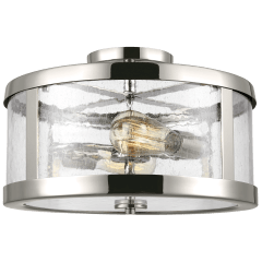 Harrow Medium Semi-Flush Mount Polished Nickel