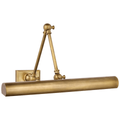 """Cabinet Maker 18"""" Double Library Light in Hand-Rubbed Antique Brass"""