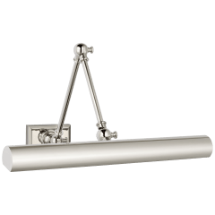 """Cabinet Maker 18"""" Double Library Light in Polished Nickel"""
