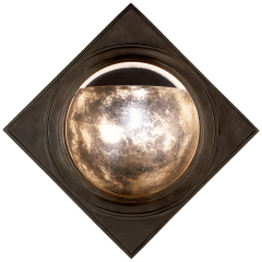 Venice Sconce in Bronze with Antique Mirror