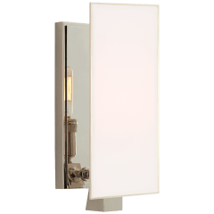 Albertine Petite Sconce in Polished Nickel with White Glass Diffuser