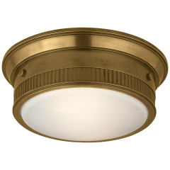 Calliope Marine Flush Mount in Hand-Rubbed Antique Brass